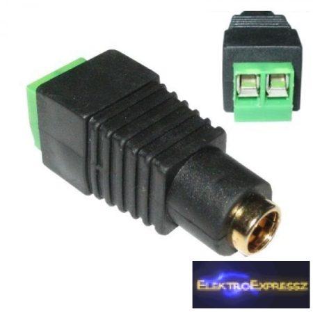 ET-2019A DC aljzat sorkapocs véggel 2,1/5,5mm