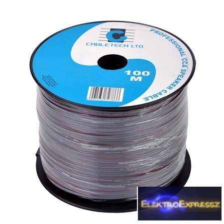 LP-KAB0350 Hangszóró kábel 2 x 0,16 mm fekete
