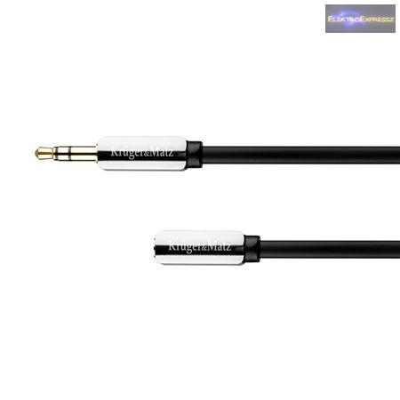 3,5mm JACK hosszabító kábel 1m Kruger & Matz márka.