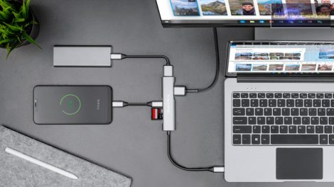USB HUB HDMI elosztó USB C HDMI / USB3.0 / USB 2.0 / TIP C MICROSD
