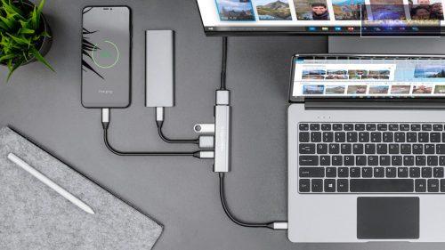 USB HUB HDMI elosztó USB C HDMI / USB3.0 / USB 2.0 / TIP C