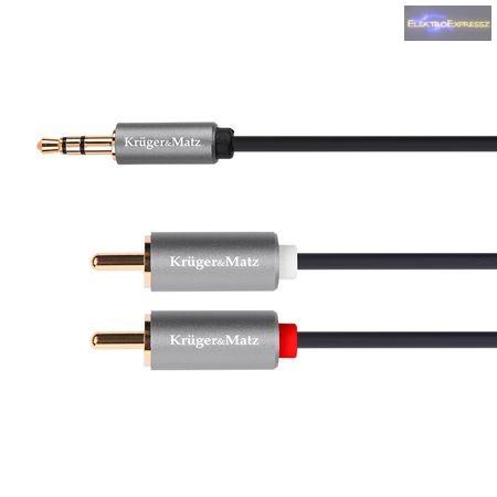 LP-KM0309  3.5 - 1.0M Kábel 2RCA Krüger & MATZ