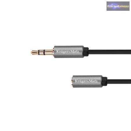 3,5mm JACK kábel hosszabbító 1,8m BASIC K & M