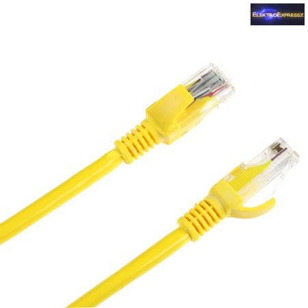 UTP kábel CAT5E sárga 3m