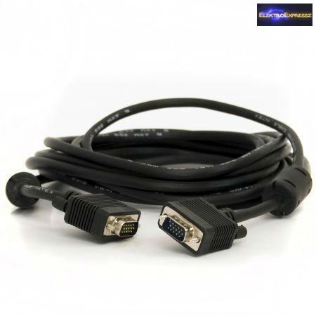 ET-7593-FPP-1.5 VGA kábel 1,5m árnyékolt fekete