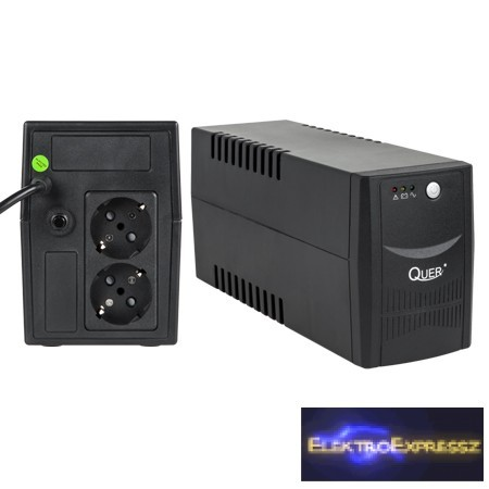 LP-KOM0551 QUER UPS 600VA/360W Szünetmentes tápegység