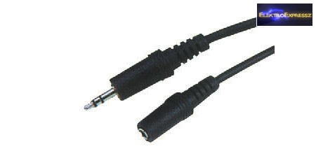 3,5mm JACK hosszabbító kábel 1,8m