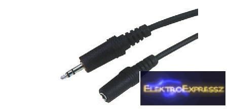 LP-KPO2744-3   jack kábel 3,5 dugó-ajzat STANDARD 3 m