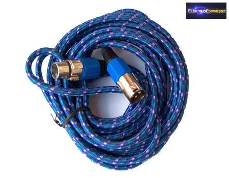 Mikrofonkábel, XLR kábel, XLR dugó - XLR aljzat 5m