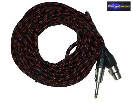 Mikrofonkábel, XLR kábel XLR ajzat - 6,3 mm-es jack mono dugó 3m