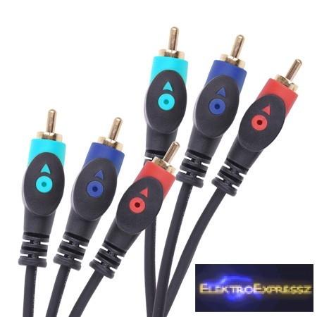 LP-KPO3905-1.8 RCA kábel 3x3RCA dugó 1,8m
