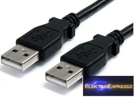 USB 2.0 kábel 'A' és 'A' dugókkal szerelve Hossza:5 m Színe: fekete