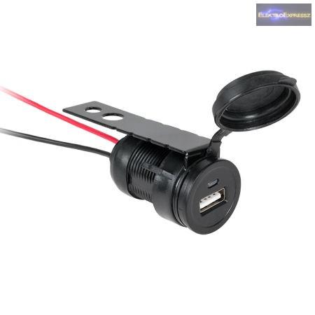 Autóba  beépithető USB ajzat 12 / 24V