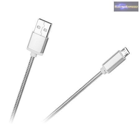 USB kábel dugó - dugó micro USB 1M  fehér