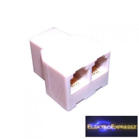ET-5012 6P4C Telefon 'Y' osztó (aljzat/2*alj)