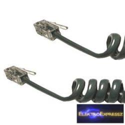 ET-5018 4P4C Telefon rugós, spirál kábel 3M
