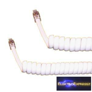 ET-5008 4P4C Telefon rugós, spirál kábel 5M