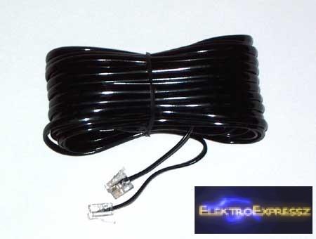 LP-TEL0033A-3  TELEFON HOSSZABBÍTÓ KÁBEL fekete 3M