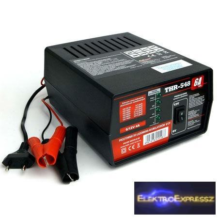 LP-URZ0371 Autó akkumulátor töltő 6-12V