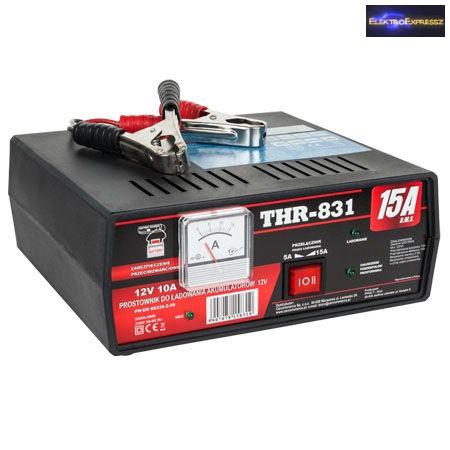 Autó akkumulátor töltő 12V  15A