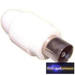 ET-1003 Koax dugó fehér, műanyag házban.