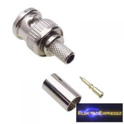 ET-3205 BNC krimpelhető dugó RG59-es kábelra.