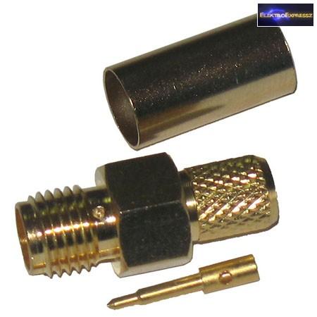 ET-3309 RP SMA dugó H-155-ös kábelra. Aranyozott kivitel.