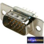ET-5735 15 pólusú 3 soros D-SUB beépíthető dugó