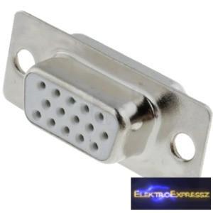 ET-5738 15 pólusú 3 soros D-SUB beépíthető aljzat