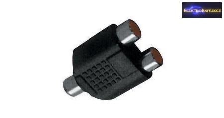 RCA aljzat -> 2x RCA aljzat átalakító adapter