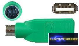 EMF-6908 USB adapter , átalakító USB A aljzat - miniDIN, 6p dugó , PS/2