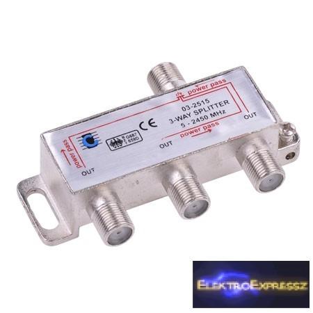 LP-ZLA0636  Három utas szatelit splitter. 5-2450MHz