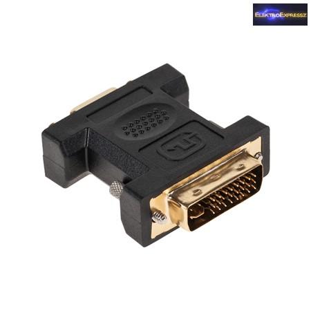 DVI-I 24+5 tűs dugó - VGA aljzat átalakító