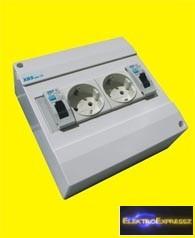MX-XBS MDA2 110 ,Ipari 2DB 2+F sínes dugalj +2DB 1P.10A B kismegszakító