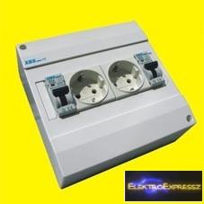 MX-XBS MDA2 1+N10 ,Ipari 2DB 2+F sínes dugalj +2DB 1P+N 10A C kismegszakító