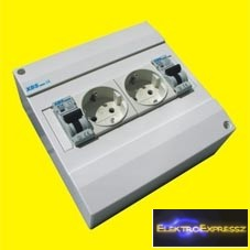 MX-XBS MDA2 FI10 ,Ipari 2DB 2+F sínes dugalj +2DB FI+kismegszakító 1P.10A C 30MA