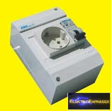 MX-XBS MDA FI10 ,Ipari 2+F sínes dugalj +FI+kismegszakító 1P.10A C 30MA