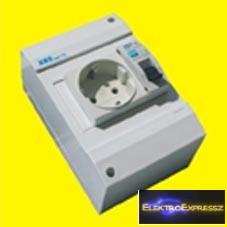MX-XBS MDA FI16 ,Ipari 2+F sínes dugalj +FI+kismegszakító 1P.16A C 30MA