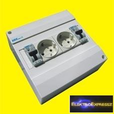 MX-XBS MDA2 1+N16 ,Ipari 2DB 2+F sínes dugalj +2DB 1P+N 16A C kismegszakító