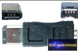 EMF-6894 Fire Wire,firewire adapter , átalakító IEEE 1394 dugó 6 pólusú → IEEE 1394 dugalj 4 pólusúra