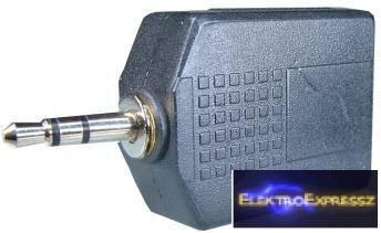 EMF-6658 Elosztó Jack dugó 3.5 mm, sztereo → 2 x Jack aljzat 6.3 mm sztereo