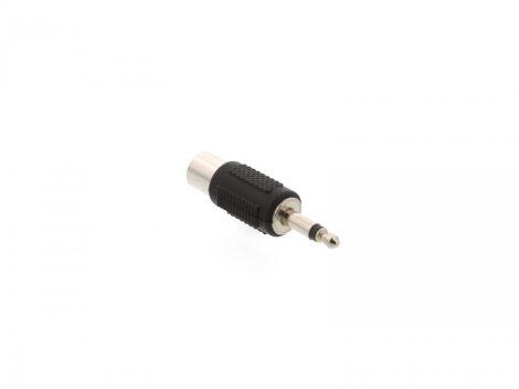 EMF-6618 Adapter Jack dugó 3,5 mm mono → RCA aljzat (fém)