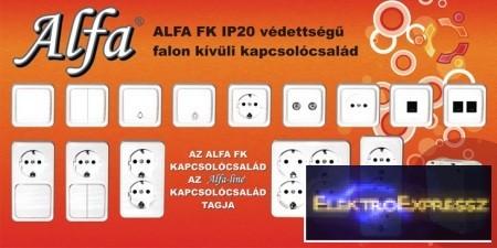 Alfa FK falonkívüli kapcsoló,csatlakozó