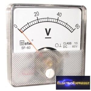 Analóg mérőműszer panel