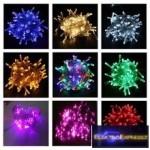 LED-es fényfüzér elemes
