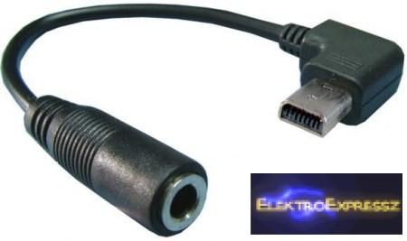 EMF-7982 Hangkábel átalakító jack 3, 5 mm dugalj - 8 pólus 0,1 m.