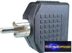 EMF-6705 Elosztó RCA dugó → 2 x jack aljzat 3,5 mm mono